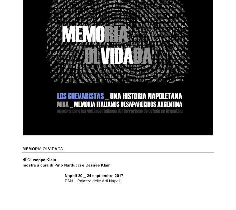 MEMORIA OLVIDADA di Giuseppe Klain