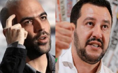 """Salvini querela Saviano per dichiarazioni lesive alla """"reputazione del sottoscritto e del Ministero dell'Interno stesso"""""""